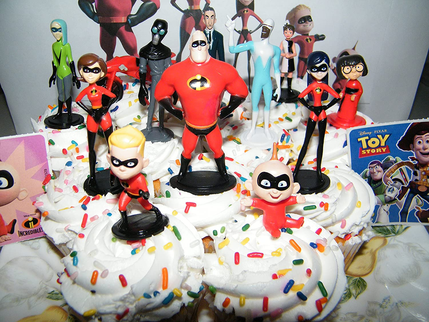 Amazon Disney Incredibles 2 Movie Deluxe Cake Toppers Cupcake