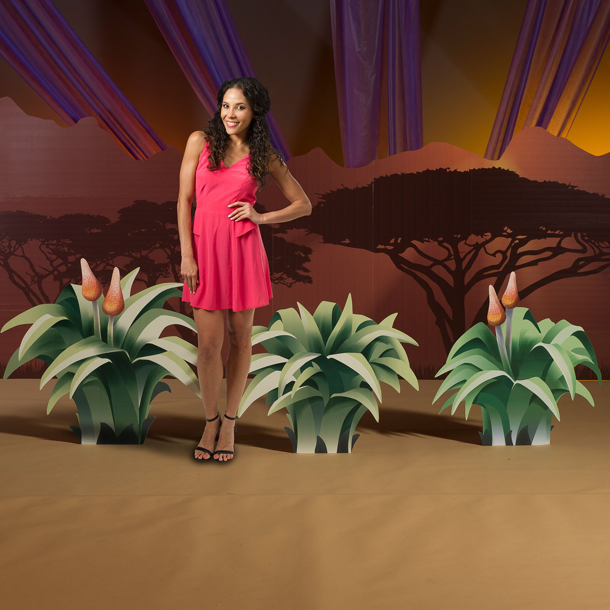2 ft. 5 in. to 2 ft. 11 in. Wild Jungle Safari Dreams Grass Standees Standup Photo Booth Prop Background Backdrop Party Decoration Decor Scene Setter Cardboard Cutout