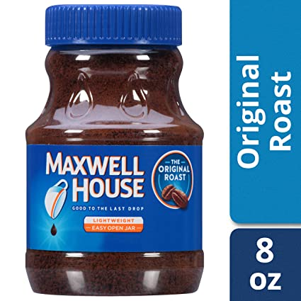 Maxwell House Original Instant Coffee In Plastic Jar 8 Oz Pack Of 12