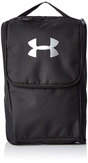 b7f1603d7e4 Under Armour Unisex's Shoe Bag Backpack, Black/Silver, One Size ...