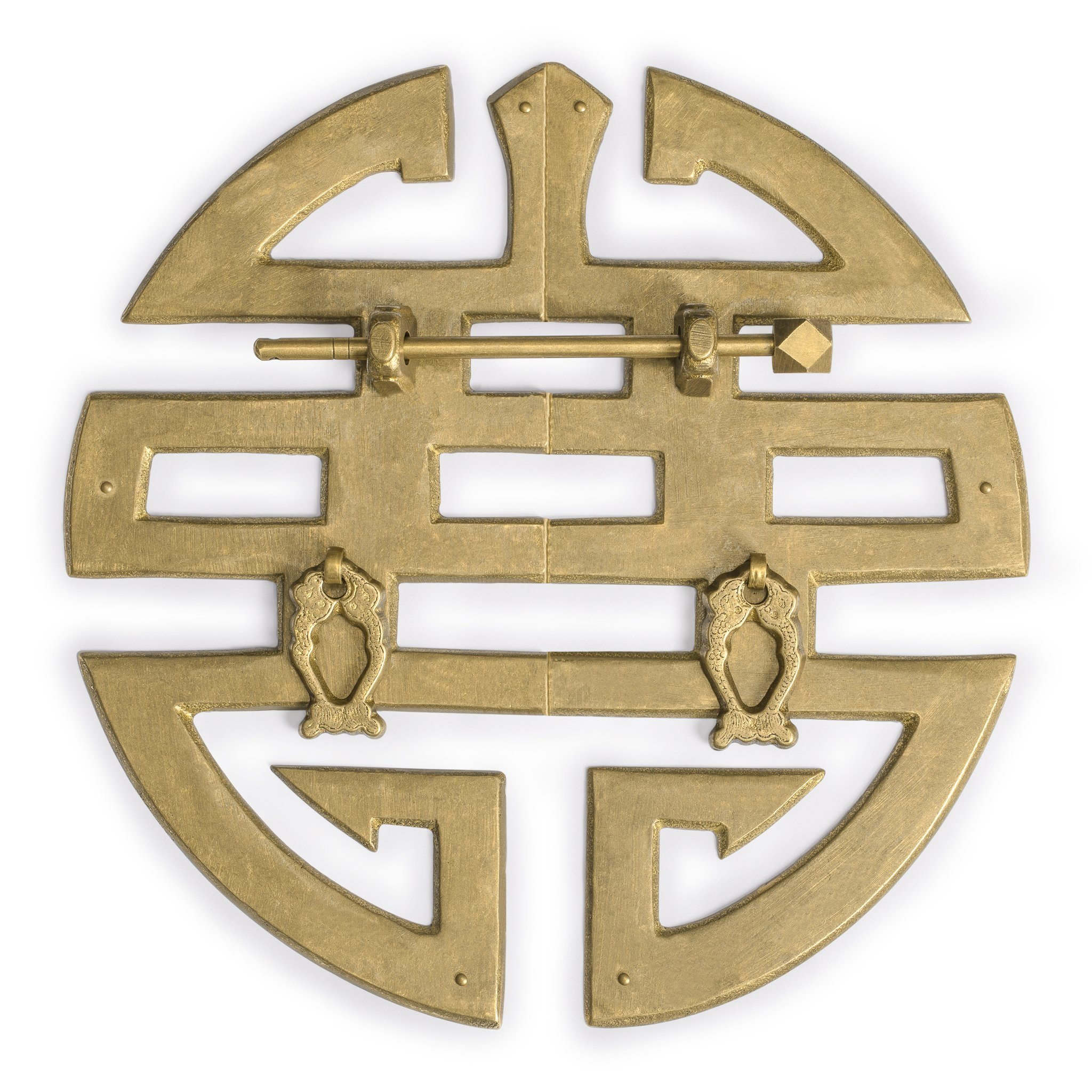 CBH Brass Happiness Character Cabinet Face Plate Backplate Hardware Set 9.6''