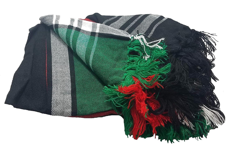 Red Green White Maasai Masai Shuka Shawl Scarf Beach Wrap Cover Up Tablecloth Kenyan Flag Black