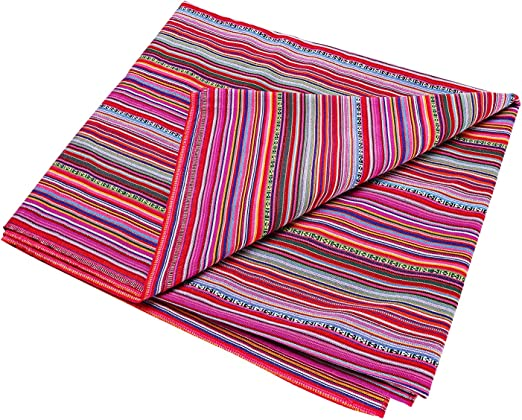 Amazon.com: LGHome Manta mexicana para yoga, coloreada ...