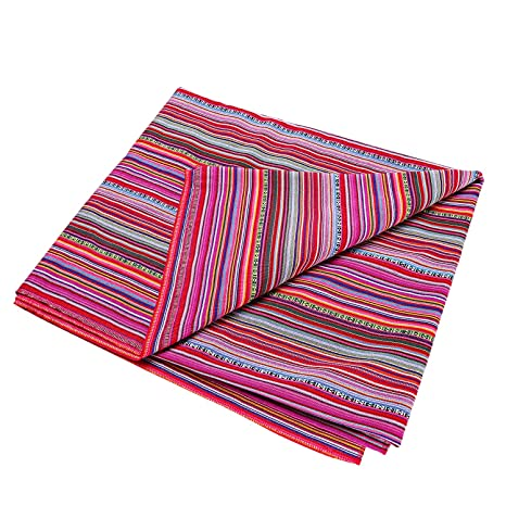 LGHome Mexican Yoga Blanket Coloful Mexican Serape Throw as Beach Throw Seat Cover, 60x72inch