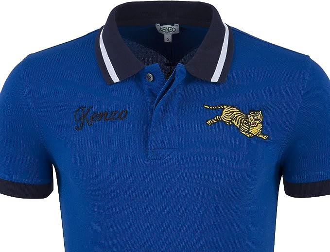 Kenzo - Polo para Hombre, diseño de Tigre, Color Azul: Amazon.es ...