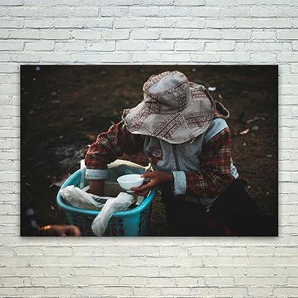 amazon com westlake art hat person 24x36 poster print wall art