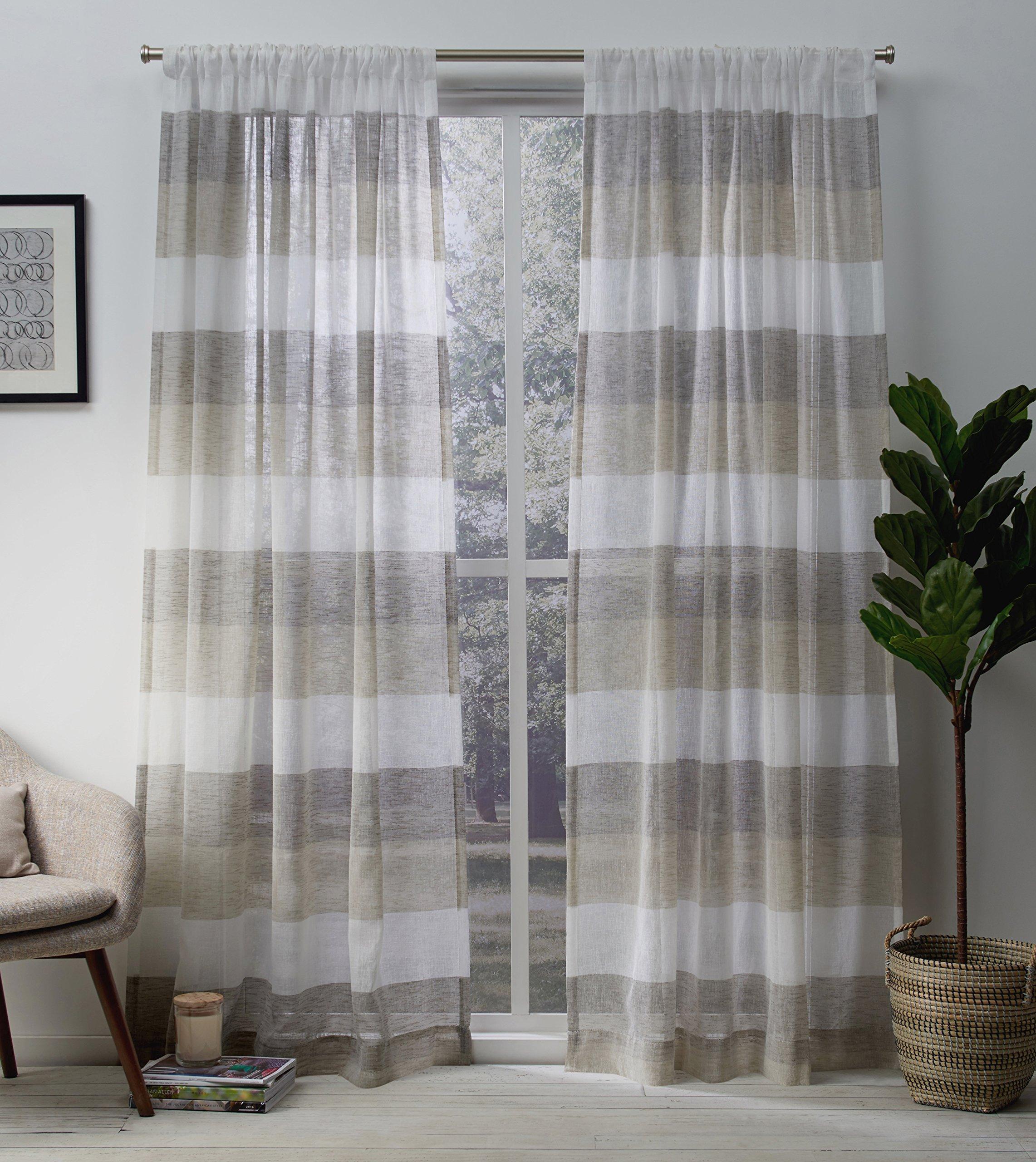 Burlap And Lace Curtains: Amazon.com