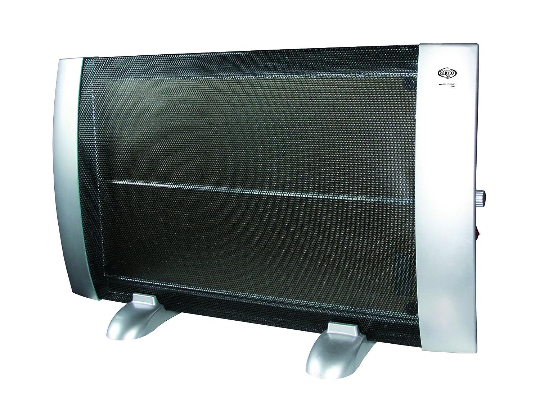 Negro y plata Argoclima HI Floor Ray Calefactor 1500 W Pl/ástico