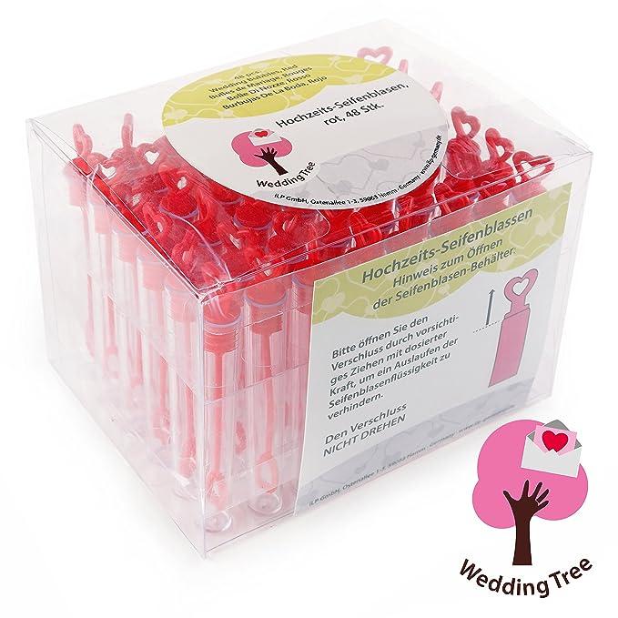 18 opinioni per WeddingTree® Premium Set per bolle di sapone nel colore rosso- 48 pezzi con