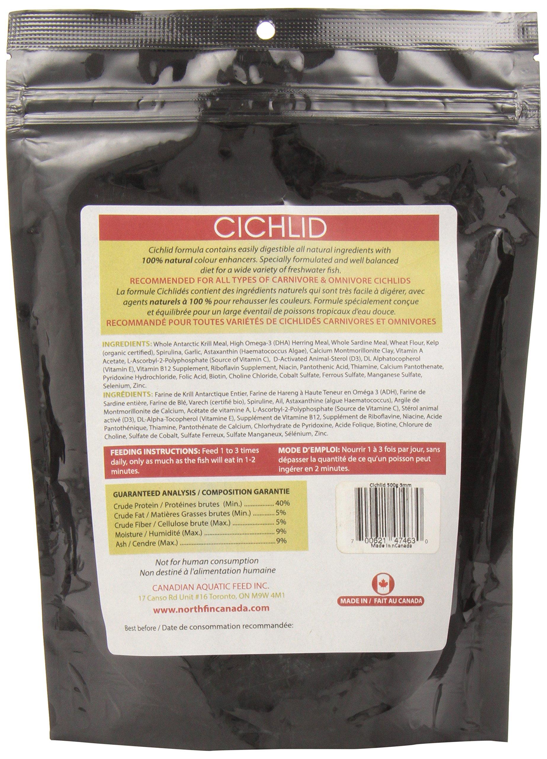 Northfin Fish Food, 3 mm Sinking Pellets, 500 g, Cichlid Formula by Northfin (Image #4)