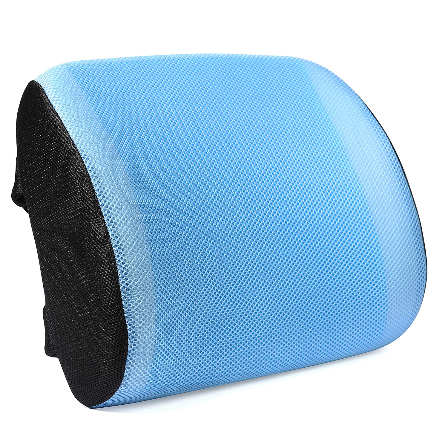 Memory Foam Lumbar Support Back Cushion with 3D Mesh Cover Balanced Firmness Designed for Lower Back Pain Relief- Ideal Back Pillow for Computer//Office Chair Car Seat Tdbest Recliner