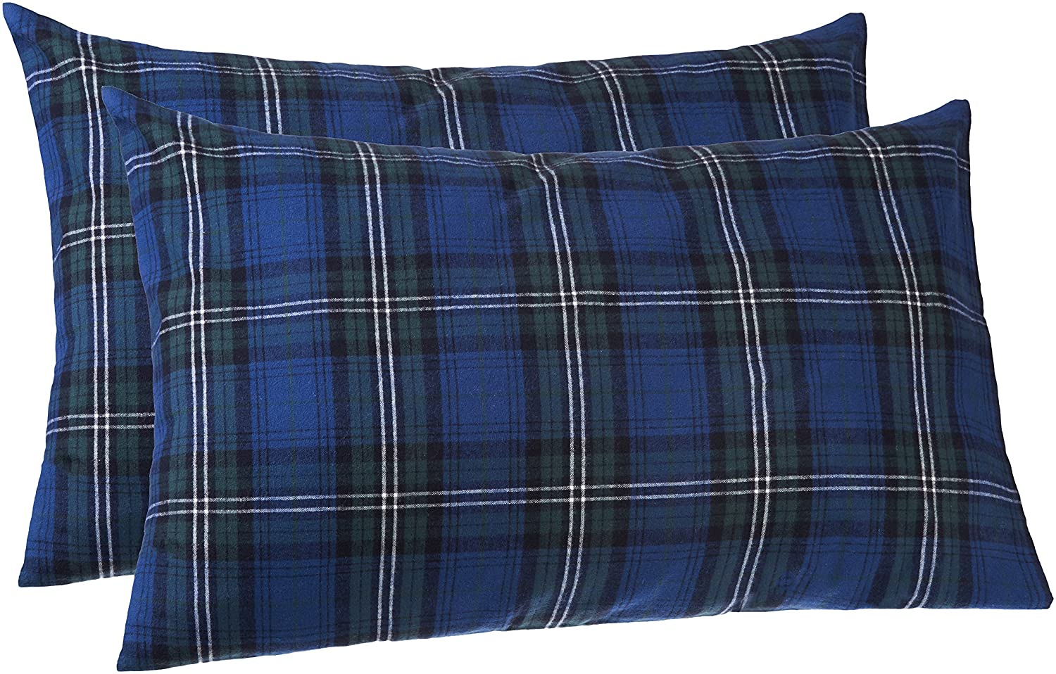 Pinzon 160 Gram Plaid Flannel Pillowcases - Standard, Blackwatch Plaid