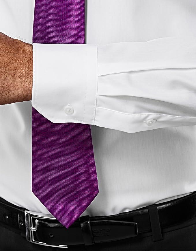 Vincenzo Boretti Camisa Hombre Blanco 39/40 cm (15.5/15.75 ...