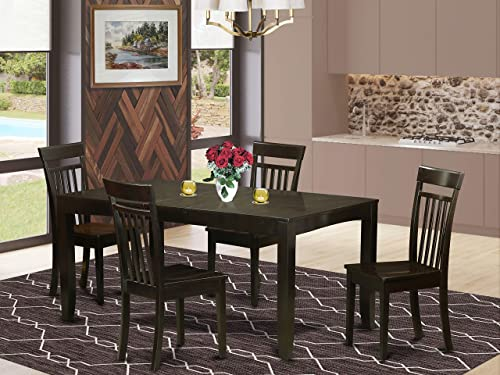 5 Pc Dining room set for 4-Dining Table with Leaf and 4 Dining Chairs
