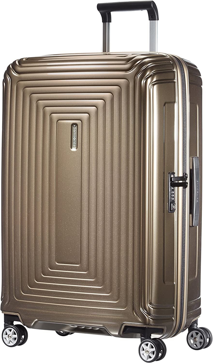 Samsonite Neopulse - Spinner M Maleta, 69 cm, 74 L, Marrón (Metallic Sand)