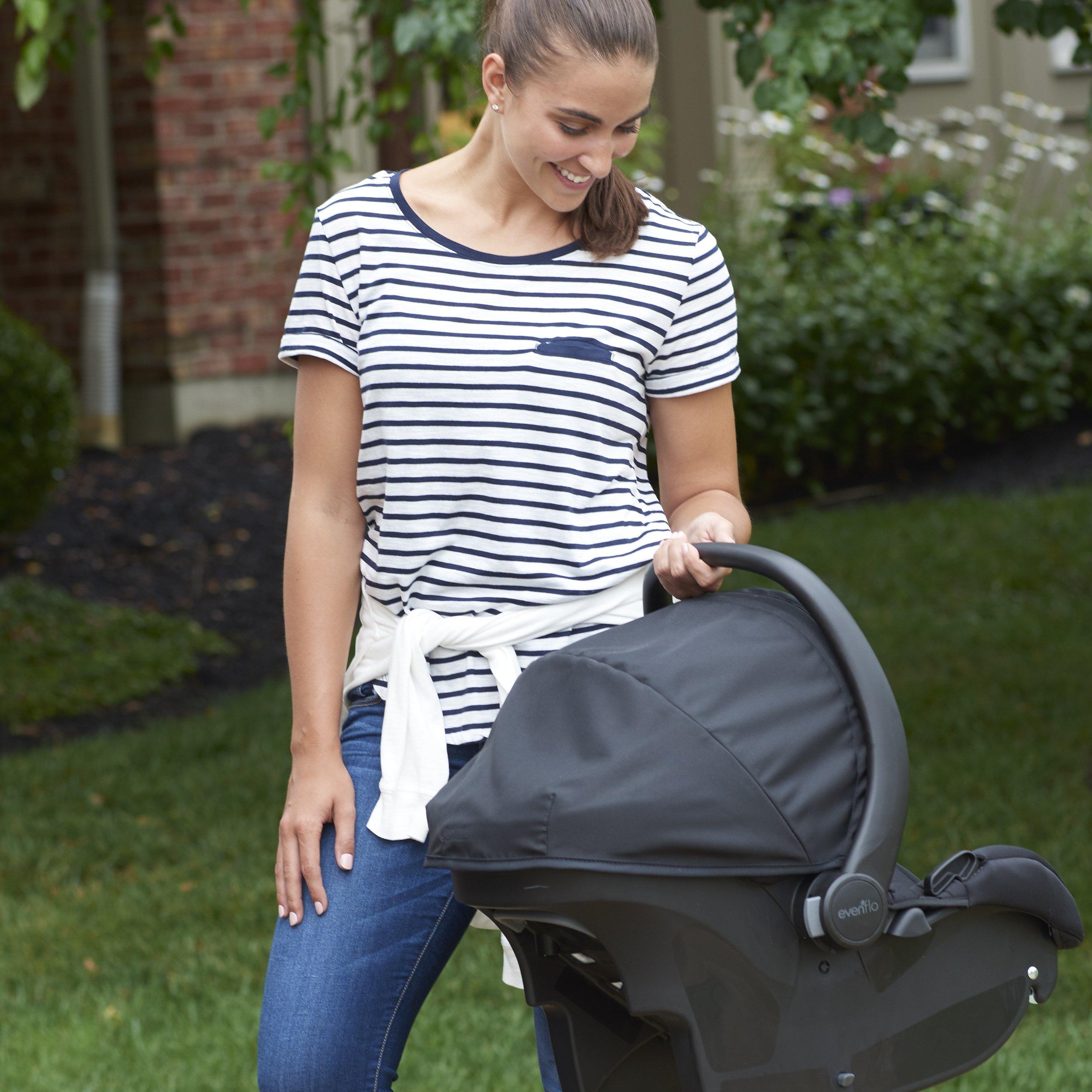 Evenflo Advanced SensorSafe Epic Travel System with LiteMax Infant Car Seat, Jet by Evenflo (Image #5)