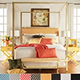 iNSPIRE Q Solivita Full-sized Canopy Gold Metal Poster Bed by Bold Grey Full