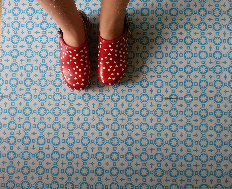 Retro vinyl floor tiles image collections tile flooring design ideas tarkett starfloor click 100 waterproof vinyl tiles retro indigo rose des vents blue vinyl floor tiles dailygadgetfo Image collections