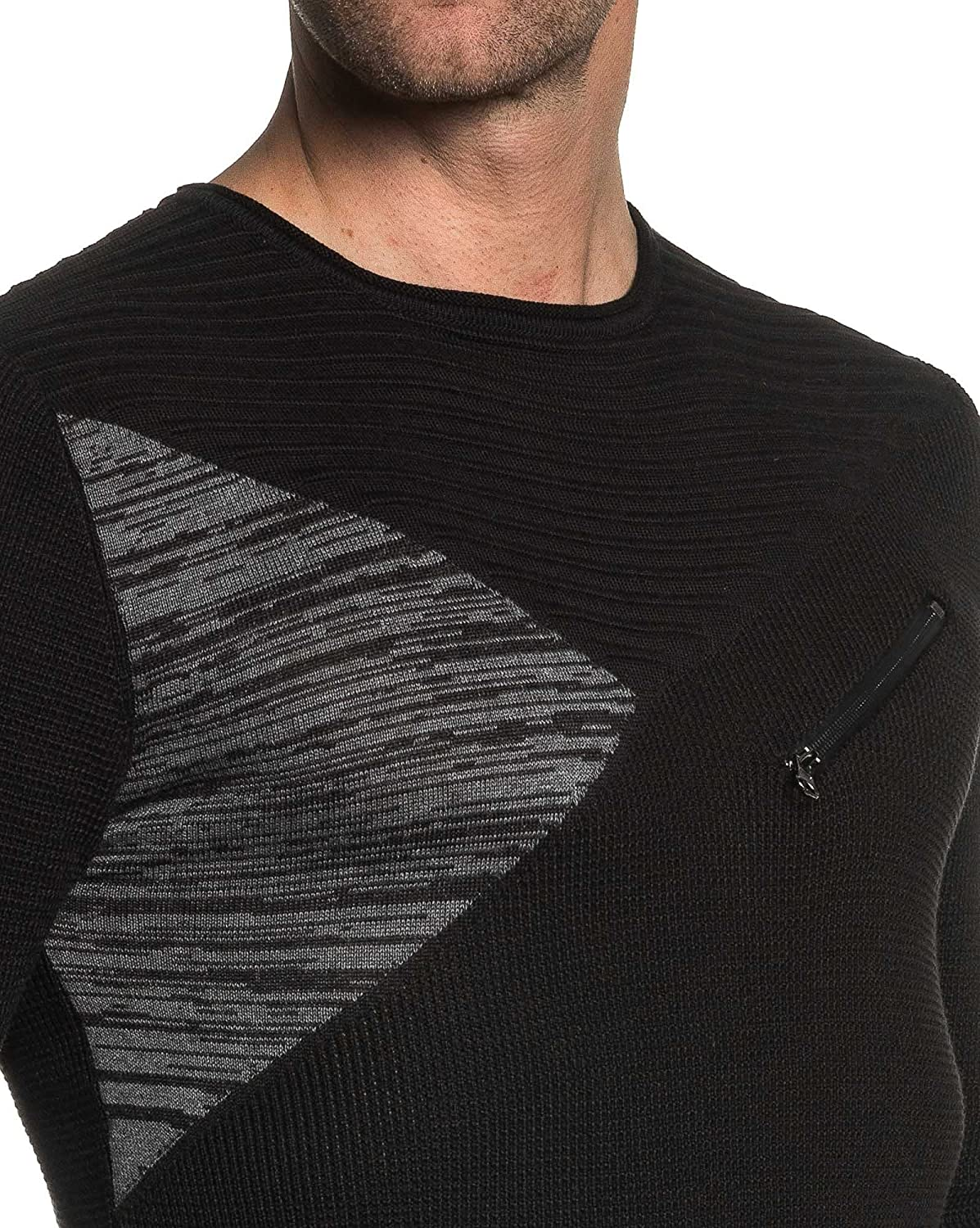 BLZ jeans - fashion black zipper sweater fancy man