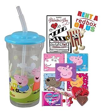 Peppa Pig – día de San Valentín Redbox película noche Fun Sip vaso de recuerdo de