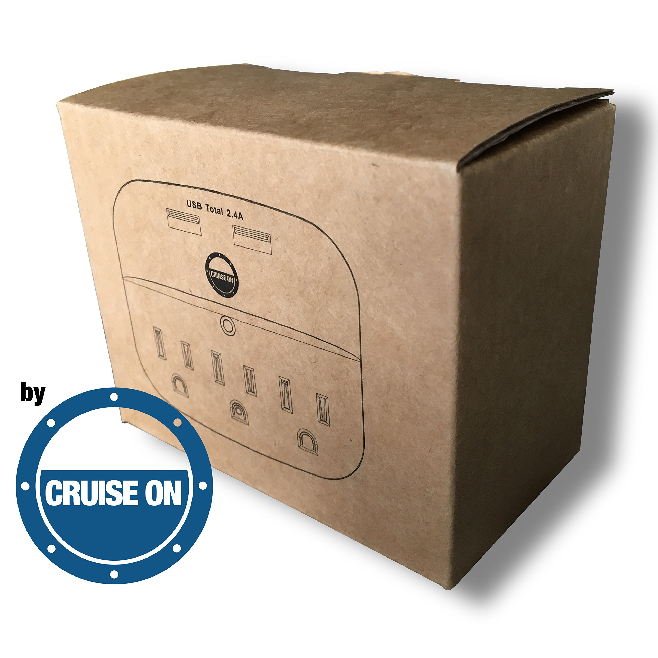 Cruise Power Strip with USB Outlets - Non Surge Protection - Cruise Ship Approved by Cruise On (Image #6)