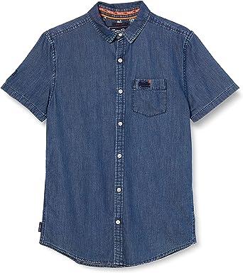 Superdry Miami Loom Shirt Camisa para Hombre: Amazon.es: Ropa y accesorios
