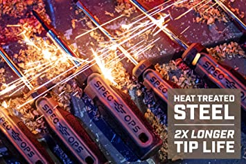 Magnetized S2 Double-Sided Bits 6-in-1 SPEC-S6IN1 Spec Ops Tools Multi-Bit Screwdriver Cr-Mo Steel Shaft