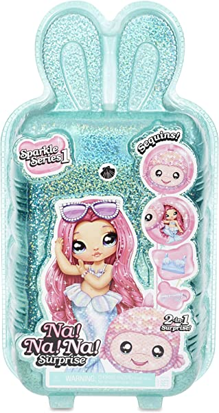 Na! Na! Na! Surprise Sparkle Series collectible surprise dolls for kids in package