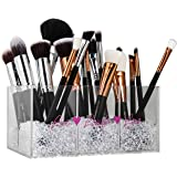 Makeup Brush Holder & Makeup Organizer with Diamond Beads: Make Your Vanity Look Special Now !