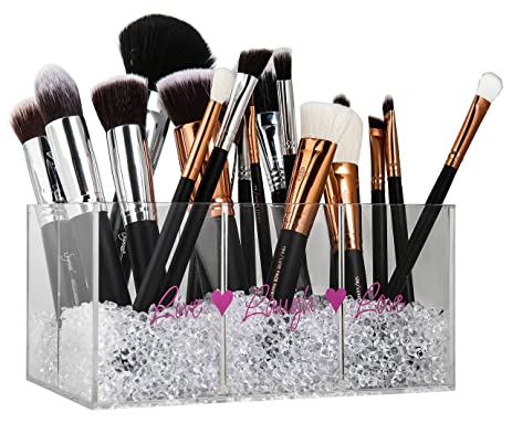 makeup brush holder beads. makeup brush holder \u0026 organizer with diamond beads: make your vanity look special now beads c