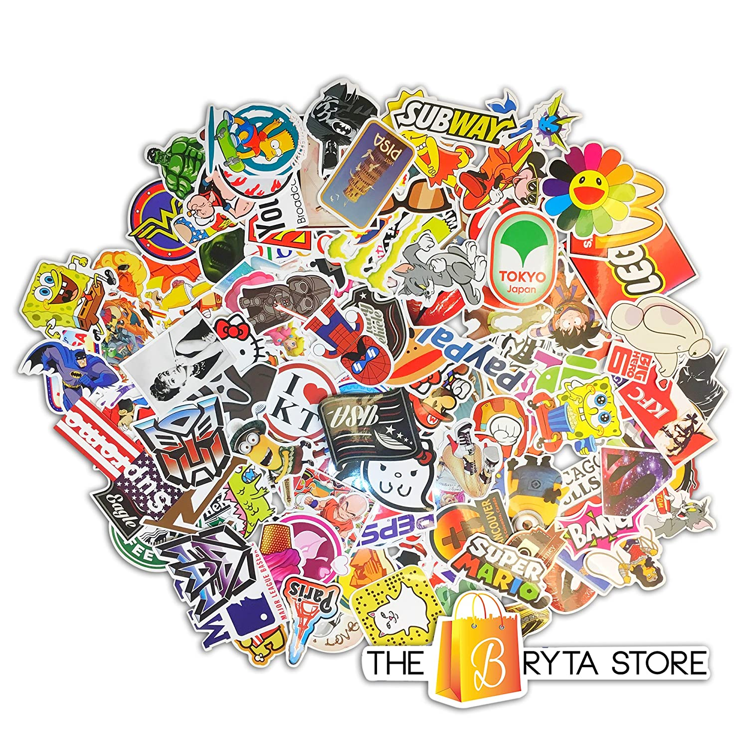 Stickers decals vinyls pack of the best selling quality sticker perfect to graffiti your laptop skateboard luggage car bumper bike hard hat