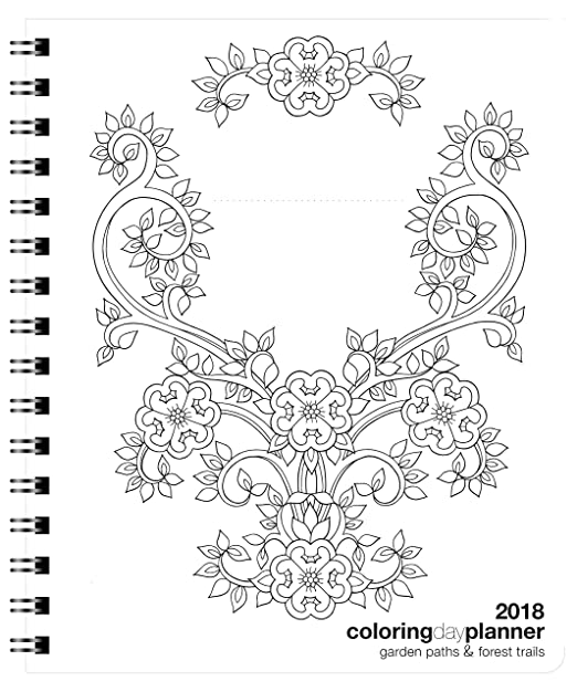 Amazon.com : 2018 Colorist Day Planner Garden Paths & Forest ...