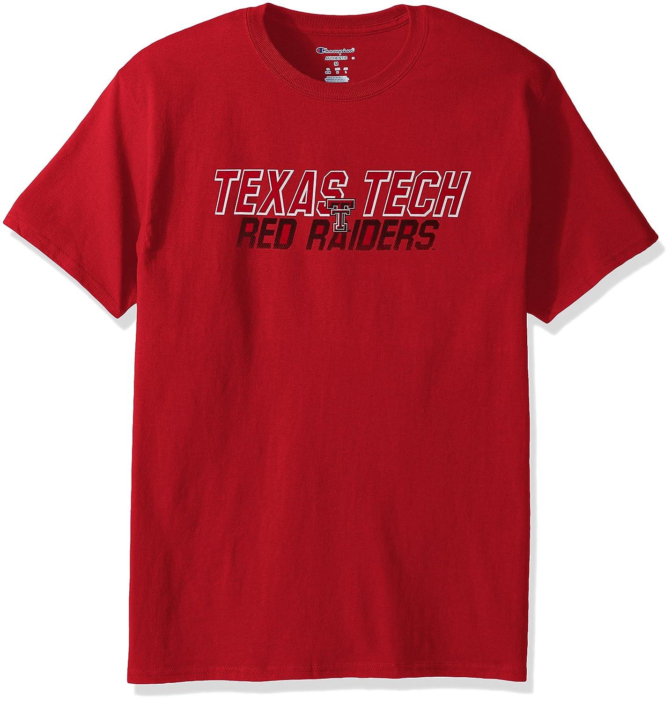 Champion NCAA Mens Short Sleeve Graphic T-Shirt Texas Tech Red Raiders Large