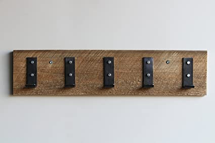 Amazon Com Reclaimed Wood Coat Hook Rack 30 Inches 5 Hooks