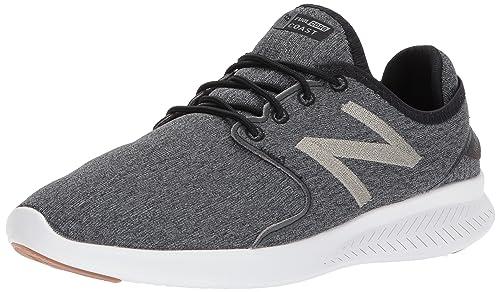 New Balance Mens Coast v3 Running Shoe, Black/Magnet, ...