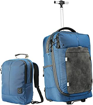 Amazon Com Cabin X Hybrid Carry On Luggage Trolley Backpack Included Mini Backpack 22x14x8 Luggage Travel Gear