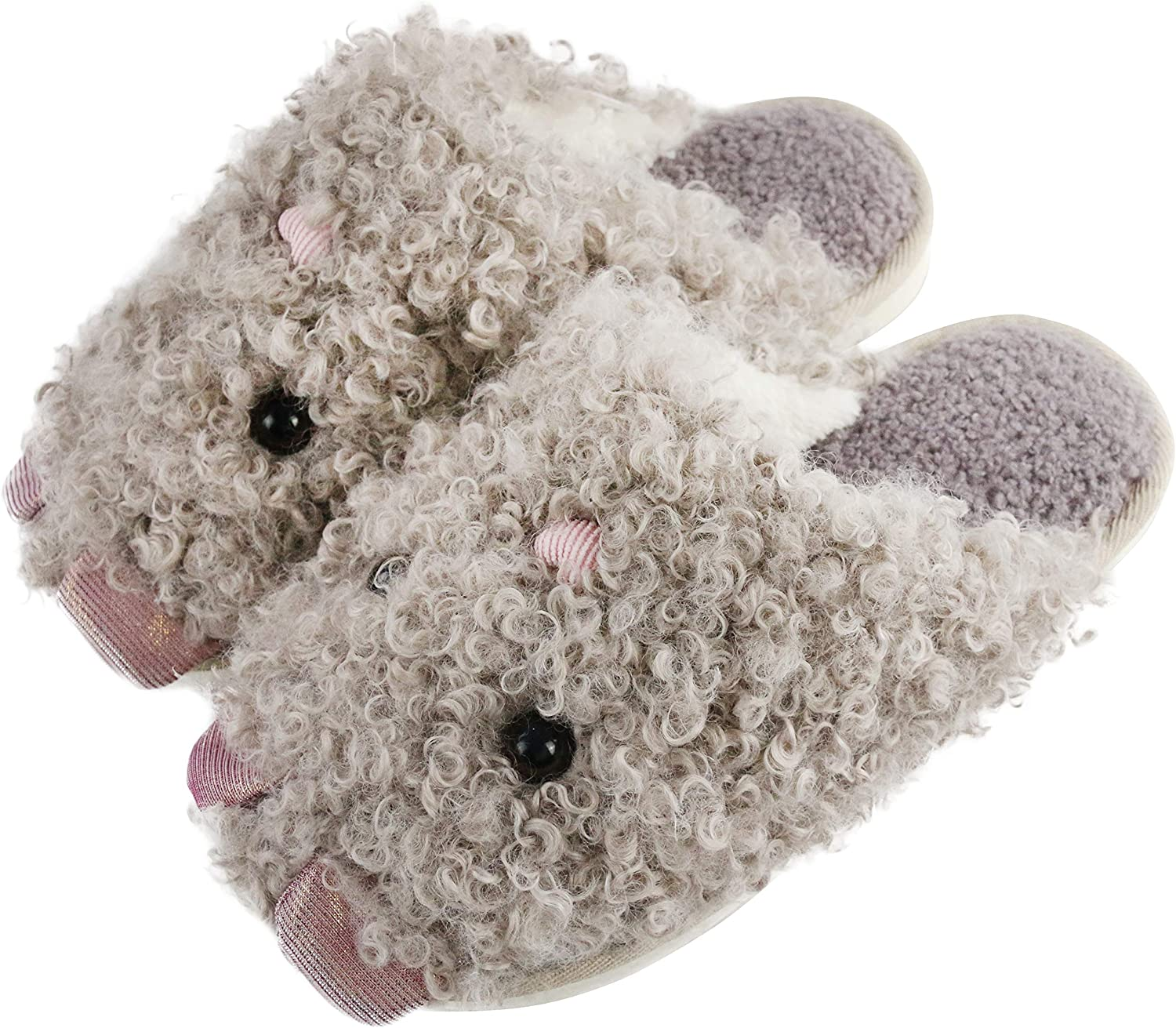Women Soft House Slippers Bedroom Indoor Sole Shoes Cartoon Plush Funny
