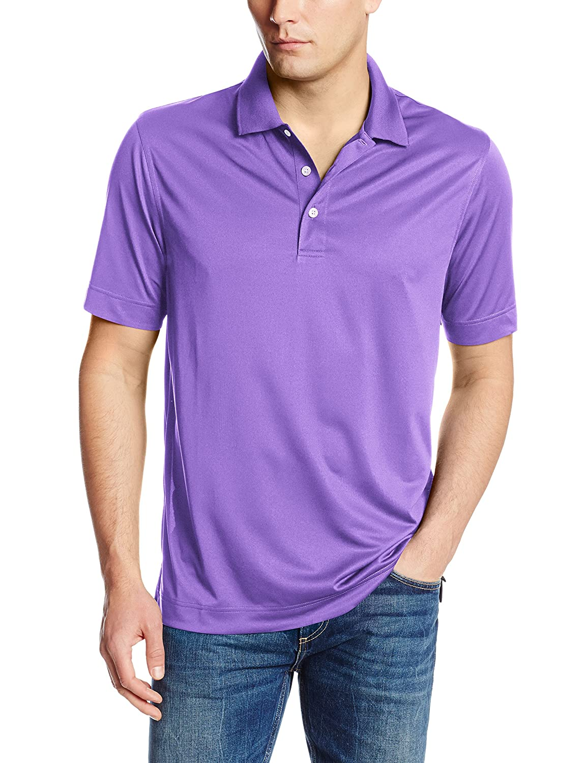 Courage S (US taille) (US taille) Cutter & Buck - Polo - Solid - Manches Courtes Homme