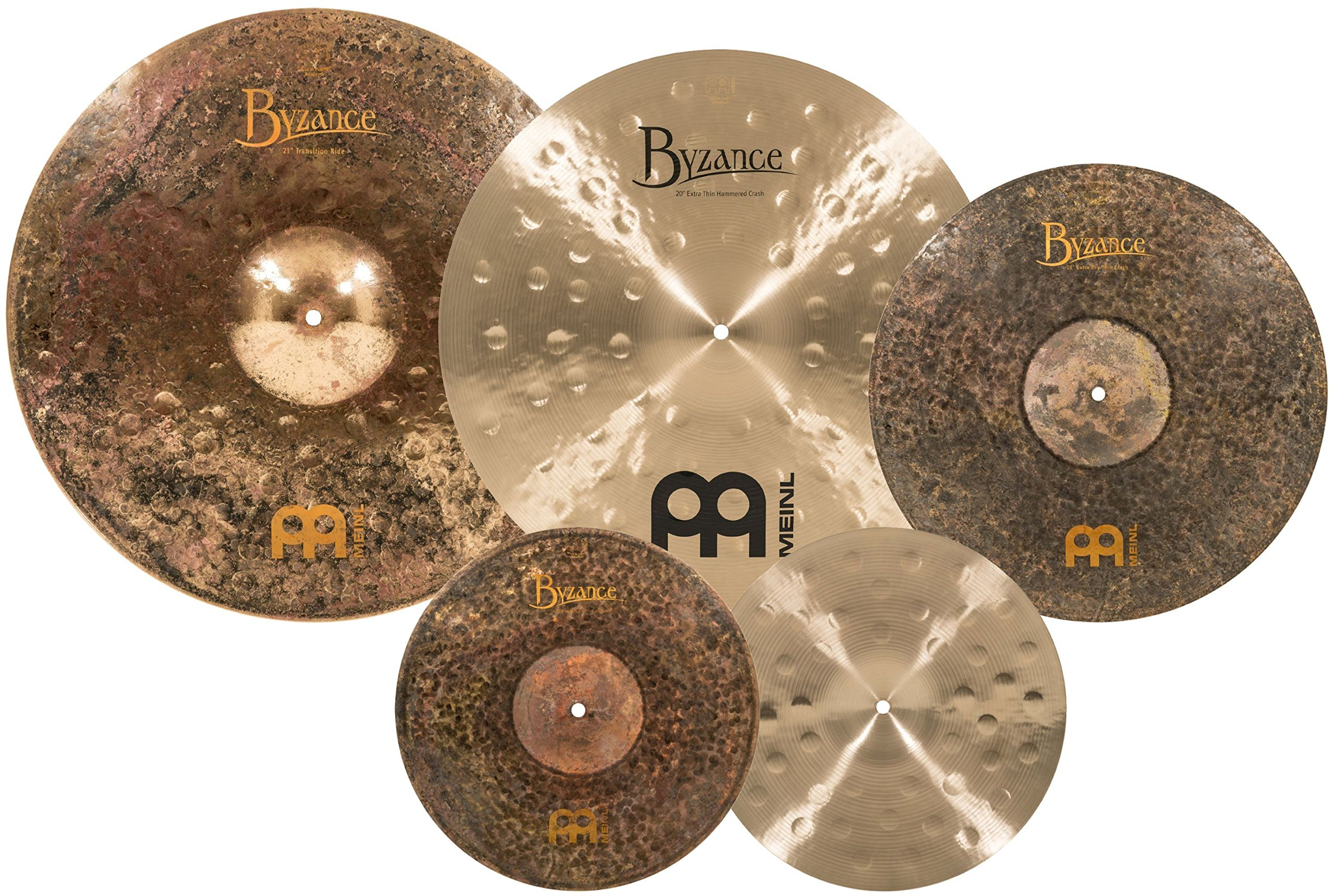 Meinl Cymbals MJ401+18 Mike Johnston Pack Byzance Cymbal Box Set with Free 18'' Byzance Extra Dry Thin Crash (VIDEO)