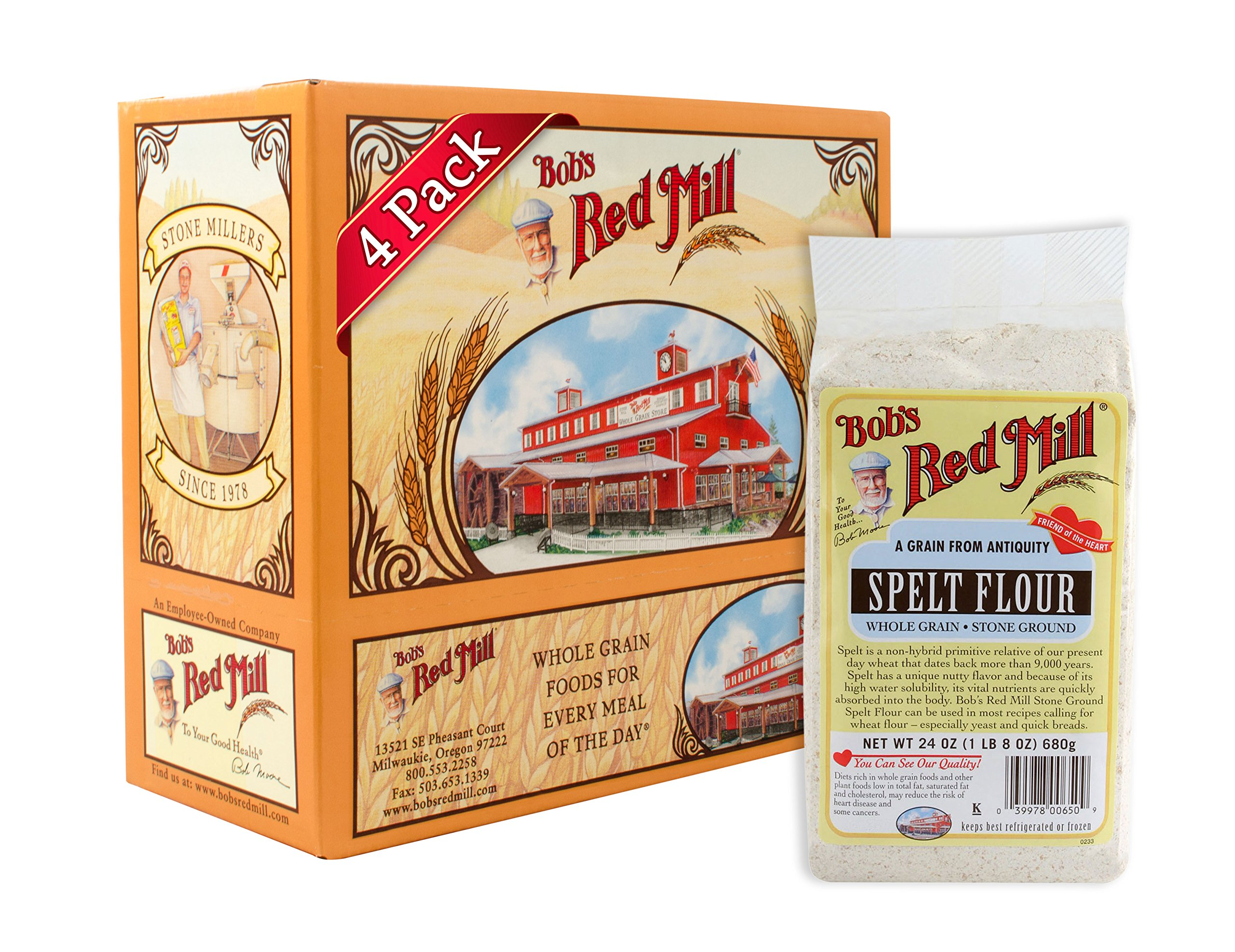 Bobs Red Mill Spelt Flour 24 Ounce Pack Of