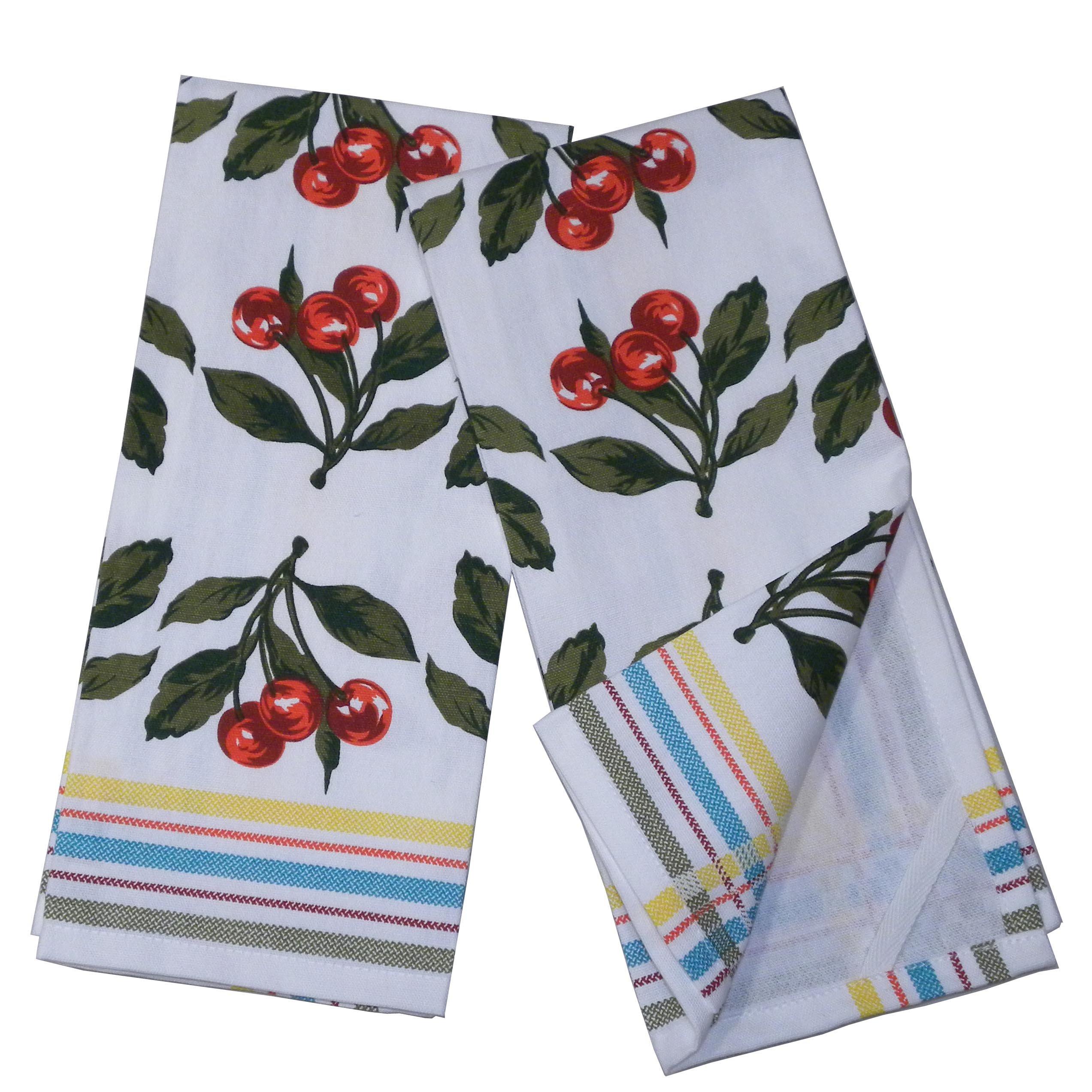 India Overseas Traders Cherries Dish Towels, set of 2