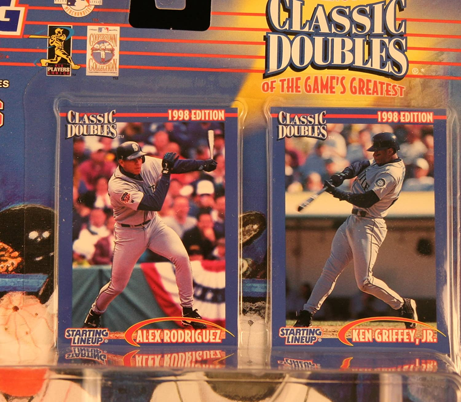35532fbeca Amazon.com: ALEX RODRIGUEZ / SEATTLE MARINERS & KEN GRIFFEY JR. / SEATTLE  MARINERS 1998 MLB Classic Doubles * Winning Pairs Series * Starting Lineup  Action ...
