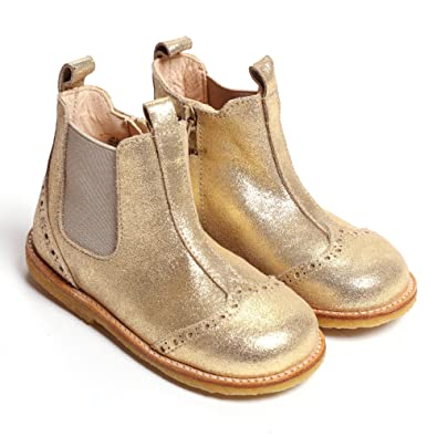 new arrival 595ce f91a7 Angulus Fantasia Chelsea Boot, Gold Glitter