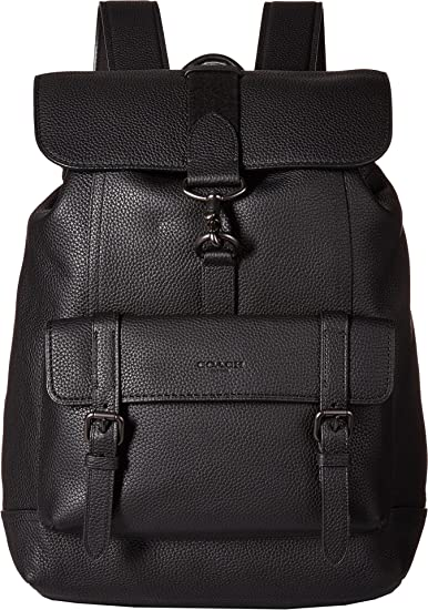 ... czech amazon coach mens bleecker backpack in pebbled leather ji black  one size casual daypacks 487d4 8598926150b3e