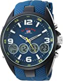 U.S. Polo Assn. Men's Analog-Quartz Watch with Rubber Strap, Blue, 27 (Model: US9598