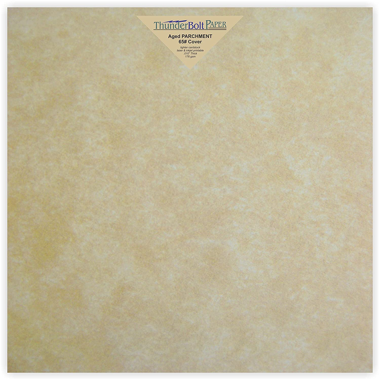 50 Old Age Parchment 65lb Cover Paper Sheets 12 X 12 Inches Cardstock Weight Colored Sheets (12