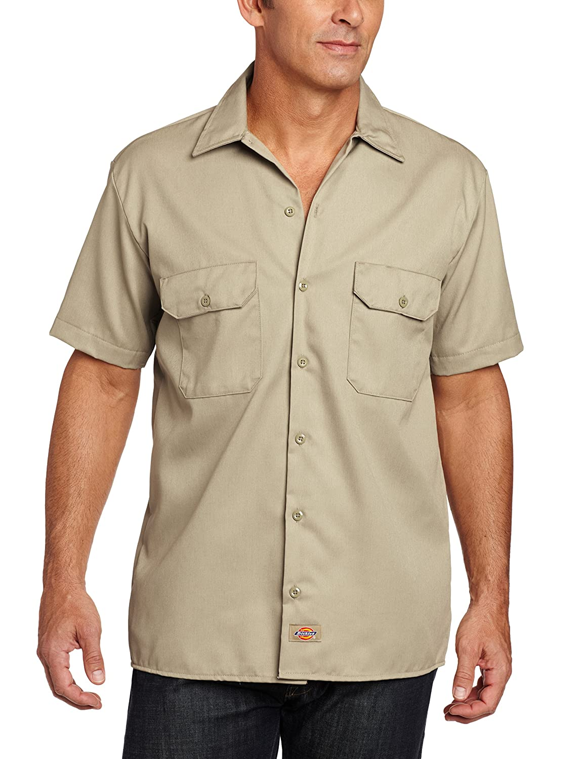 1930s Style Mens Shirts Short-Sleeve Work Shirt $49.00 AT vintagedancer.com