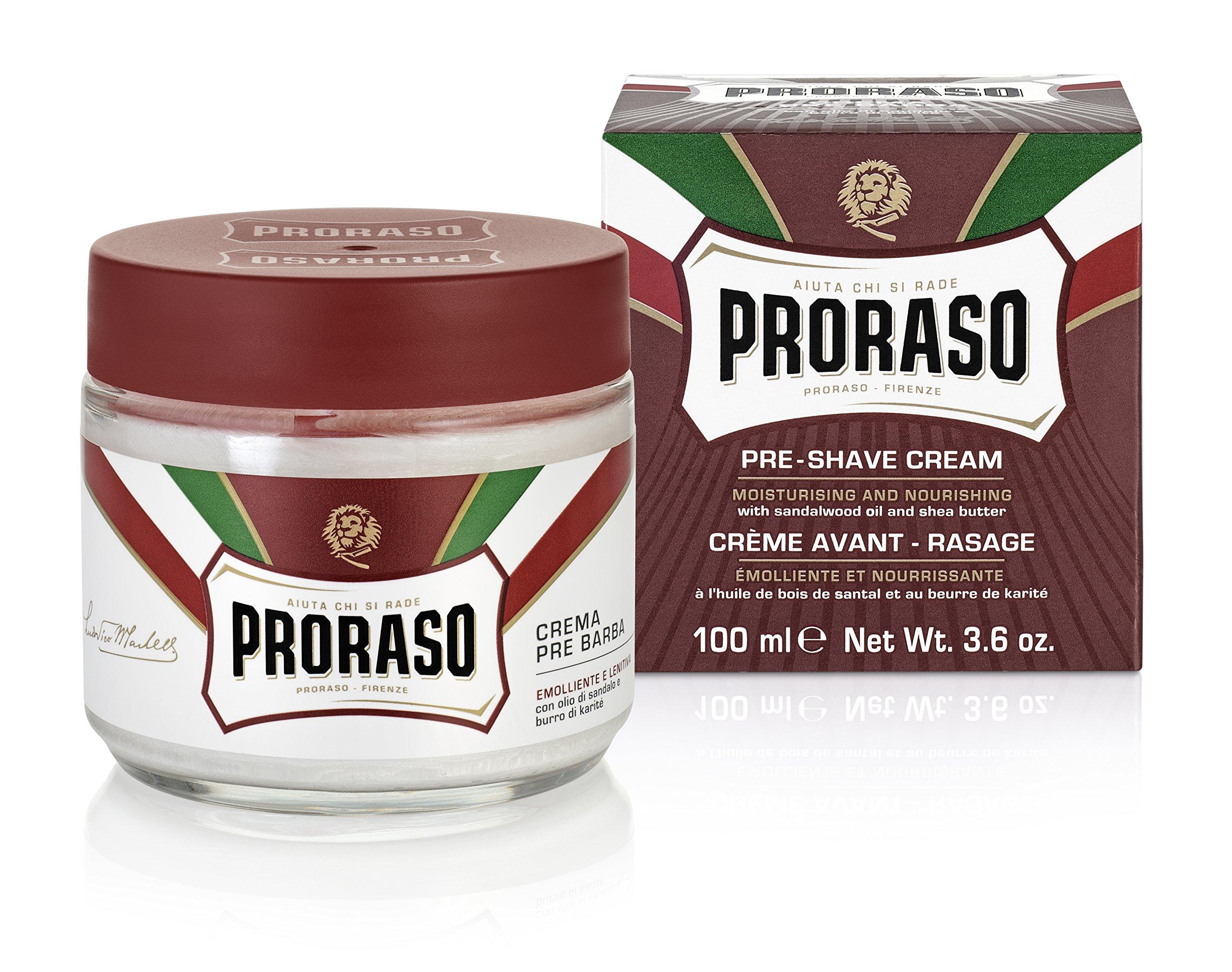 Proraso Pre-Shave Cream, Moisturizing and Nourishing, 3.6 oz