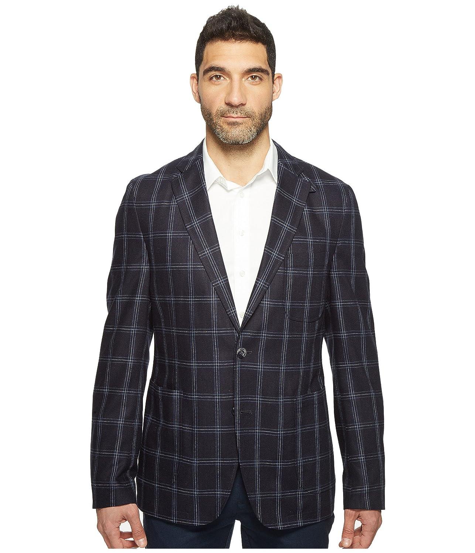 [クルーン] Kroon メンズ White Modern Fit Two-Button Traveler Blazer スーツ [並行輸入品] B06XW6DW21 44R ネイビー ネイビー 44R