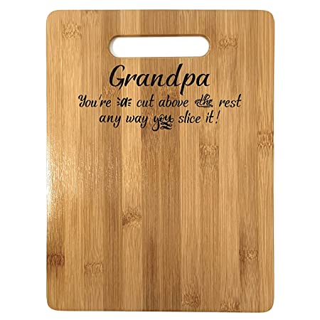 Bamboo Cutting Board Design Grandpa Gift